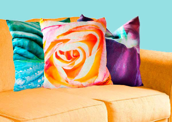 colorful holiday pillows