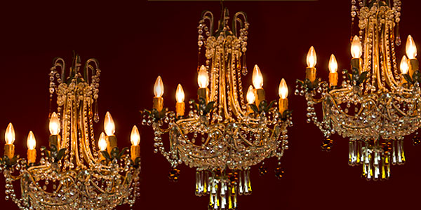 A Chandelier That Glows in the Night