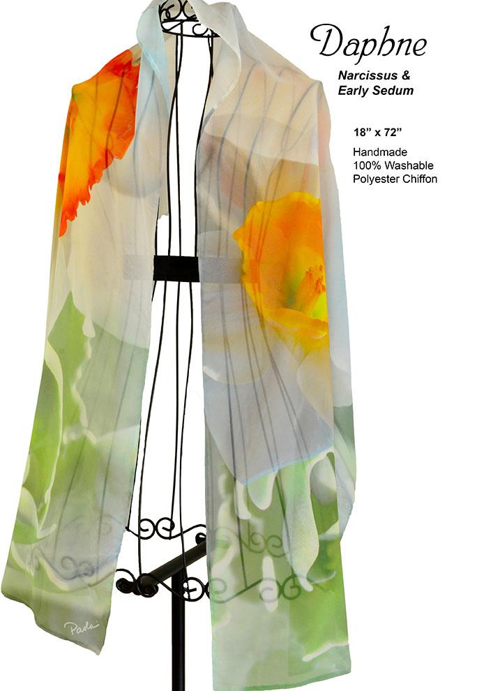 Nasturiums,yellow, flowers, white, green, sedum