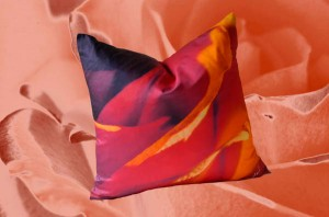 Red Rose Cotton Sateen Down Pillow