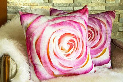 Cotton Rose pillow