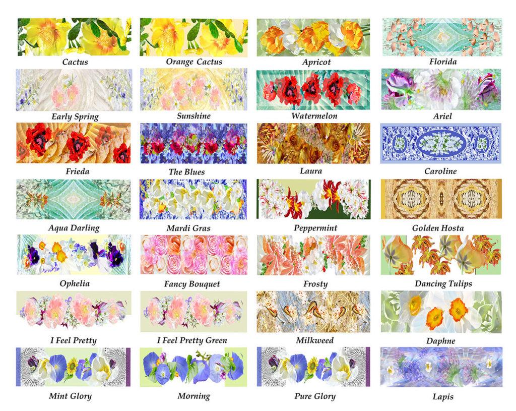 chiffon scarf designs